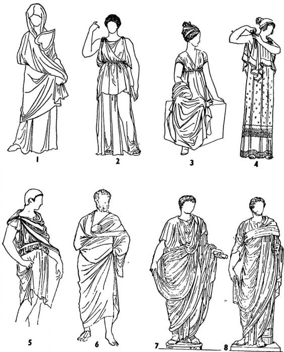 одежда древнего греции в картинках